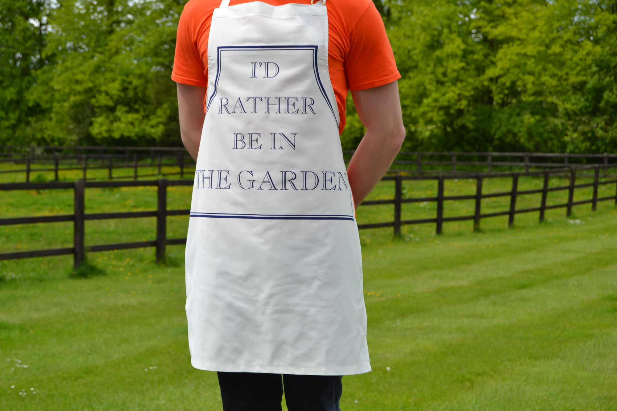 I'd Rather Be in the Garden apron