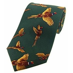 Soprano Green Pheasant Silk Country Tie