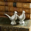 Culinary Concepts Silver Plated Pheasant Salt and Pepper Shaker Set additional 3