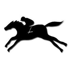 The Labrador Company Racehorse Wall Clock With Wagging Tail