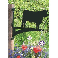 Angus Cow Hanging Basket Bracket