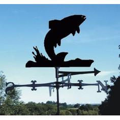"""Splash"" Leaping Fish Weathervane"