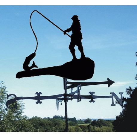 """Big Fish"" Fisherman Weathervane"