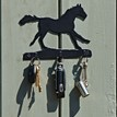 3 Hook Key Rack - Horse Galloping additional 2