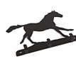 3 Hook Key Rack - Horse Galloping additional 1