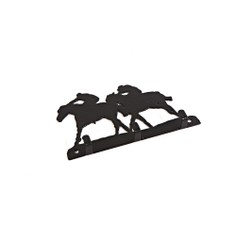 3 Hook Key Rack - Horse Racing