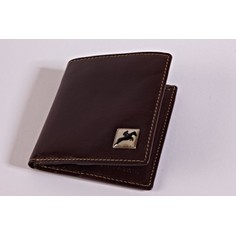 Tyler & Tyler Brown Leather Jeans Wallet - Horse Racing