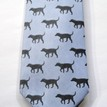 Fox & Chave Blue and Black Labrador Silk Tie additional 3