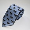 Fox & Chave Blue and Black Labrador Silk Tie additional 4