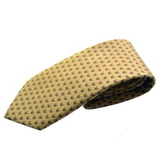 Fox & Chave Bryn Parry Fox Head Yellow Tie