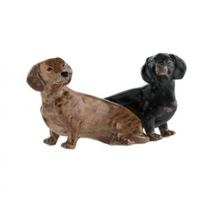 Quail Ceramics Dachshund Salt and Pepper Shaker Pots