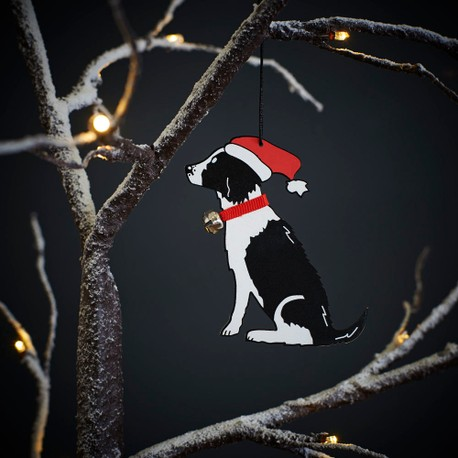 Sweet William Black and White Springer Spaniel Christmas Decoration
