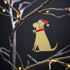Sweet William Yellow Labrador Christmas Decoration
