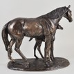 Mare and Foal Cold Cast Bronze Sculpture additional 3