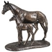 Mare and Foal Cold Cast Bronze Sculpture additional 1