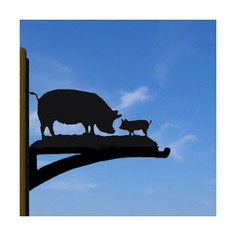 Pigs Hanging Basket Bracket