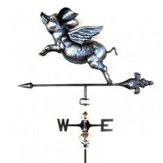 Primus 3D Flying Pig Weathervane with Garden Stake