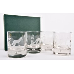 Set of 4 Fox Glass Whisky Tumblers