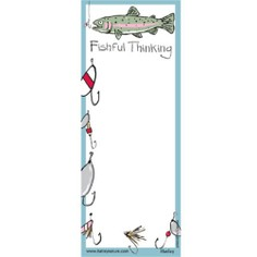 """Fishful Thinking"" Magnetic List Noteboard"