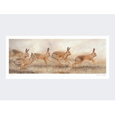 Limited Edition Print by Robert E Fuller - Hares On the Run