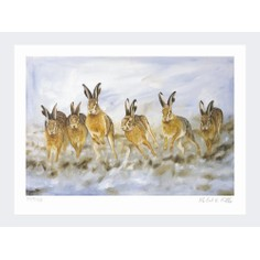 Limited Edition Print by Robert E Fuller - Hare Today Gone Tomorrow