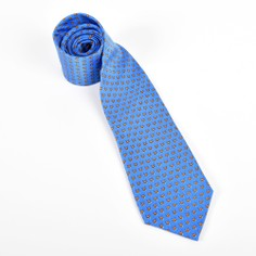Fox and Chave Bryn Parry Foxes Blue Silk Tie