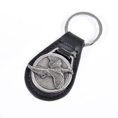 Leather Keyring with Pewter Pheasant