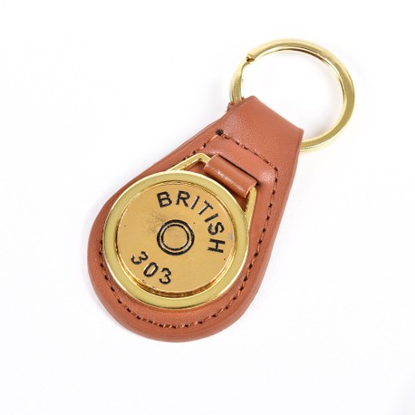 Gold Plated Cartridge Head Stamp Keyring