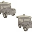 Land Rover Defender Rhodium Plated Cufflinks additional 1