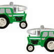Green Tractor Rhodium Plated Cufflinks additional 1