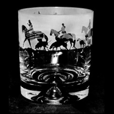 Animo Glass Hunting Scene Whisky Tumbler