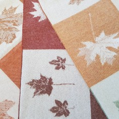 The Isle Mill Autumnal Leaves Merino Wool Throw
