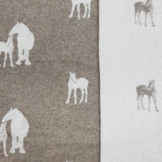 The Isle Mill Horses Merino Wool Throw in Chestnut