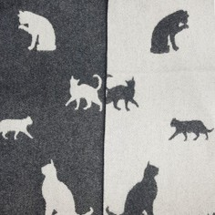 The Isle Mill Black Cat Merino Wool Throw