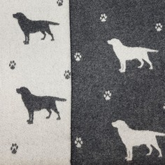 The Isle Mill Black Labrador Merino Wool Throw