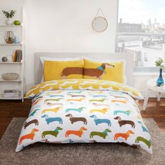 Dachshund Reversible Duvet Set