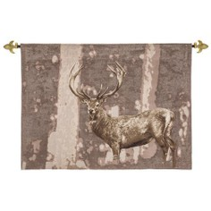 Hines of Oxford Stately Stag Taupe Tapestry