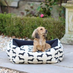 The Labrador Company Dachshund Print Dog Bed