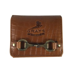 Grays Jodie Compact Snaffle Purse in Natural Leather Croc