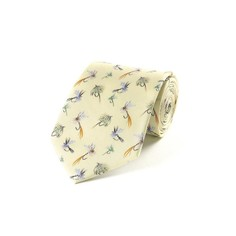 Fox & Chave Bryn Parry Fishing Flies Silk Tie