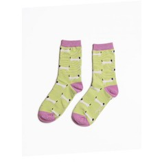 Ladies Mint Dachshund Socks