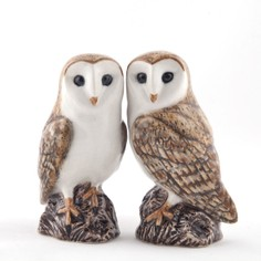Quail Ceramics Barn Owl Salt & Pepper Shaker Pots