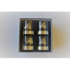 Set of Four Tractor Pewter Whisky Glasses