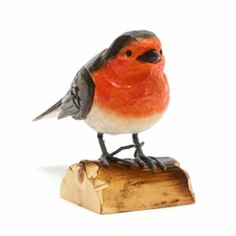 RSPB Hand Carved Wooden Robin
