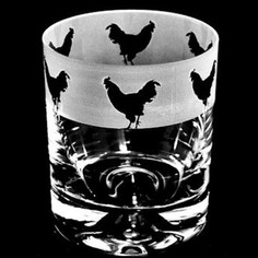 Animo Glass Cockerel Whisky Tumbler
