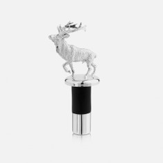 Silver Plated Stag Bottle Stopper