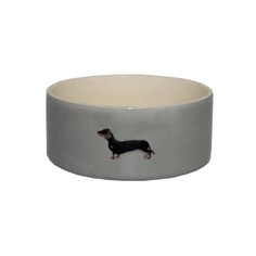 Bailey & Friends Grey Dachshund Dog Bowl