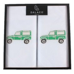 Green Land Rover Embroidered Handkerchiefs