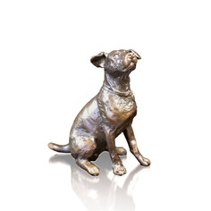 Limited Edition Jack Russell Sitting Bronze Sculpture