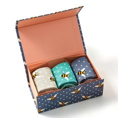 Ladies Bumble Bee Socks Box